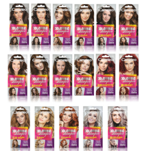 Details about Delia Cameleo Temporary Hair Colour Shampoo Dye Sachet 4 to 6  Washes Wash Out