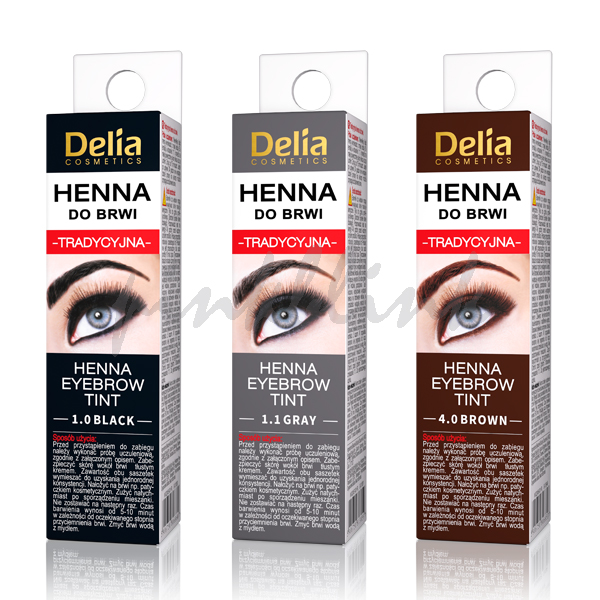 Delia Cosmetics Henna Traditional Eyebrow Tint Colour Brown Grey